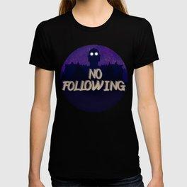 No following giant T-shirt