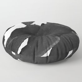 Cactus in Black And White Floor Pillow