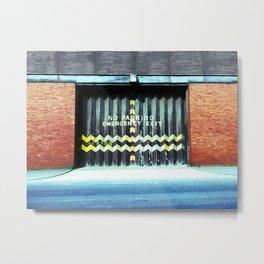Emergency Exit Metal Print