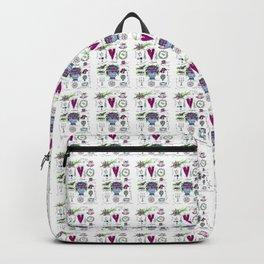 Darling Dottie Bridal Season pattern Backpack
