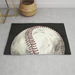 Vintage Baseball Art Rug