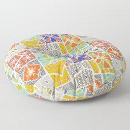 Barcelona tiles Floor Pillow