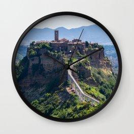 Civita di Bagnoregio - Italy Wall Clock