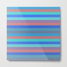 Stripes (Stylized Patterns 9) Metal Print