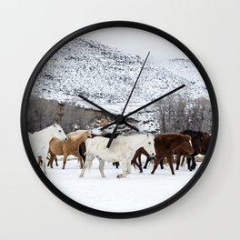 Carol Highsmith - Wild Horses Wall Clock
