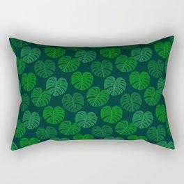 Swiss Cheese Plant Monstera Deliciosa Design Rectangular Pillow