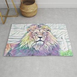 Lion Pride In Watercolour Rug
