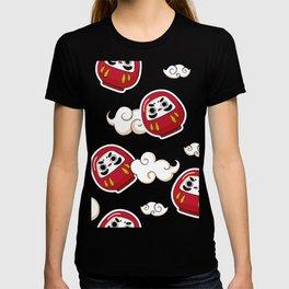 Cute Daruma Pattern T-shirt