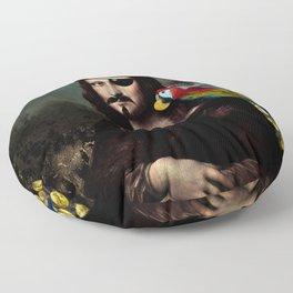 Mona Lisa Pirate Captain Floor Pillow