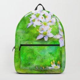 White garlic flower Backpack