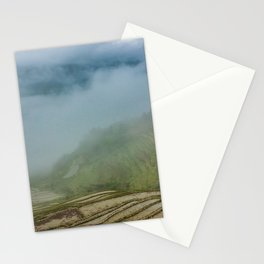 Misty View of Longj Rice Terraces Stationery Cards