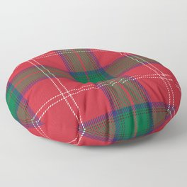 Classic Christmas Red and Green Plaid Tartan Pattern Floor Pillow