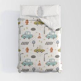 Cute Naive Cars Comforters