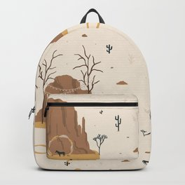 Beautiful Landscapes Scenery desert Backpack