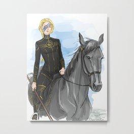 gold rider Metal Print