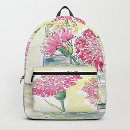 Pink Carnations, Still Life Backpack