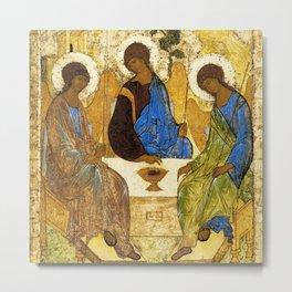 Christian Holy Trinity Golden Angels Metal Print