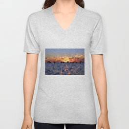 Sunset at the Lake Unisex V-Neck