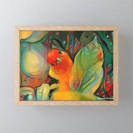 Feathered Sunshine Framed Mini Art Print