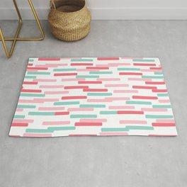 Karena - abstract minimal trendy pattern palette lines dash grid urban affordable dorm college decor Rug
