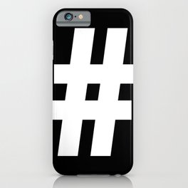 Hash Sign (White & Black) iPhone Case