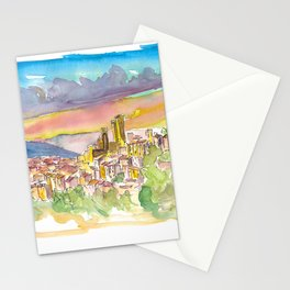 Pacentro Skyline in Province of L'Aquila in Abruzzo, Italy Stationery Cards