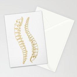 Gold Vertebrae Stationery Cards