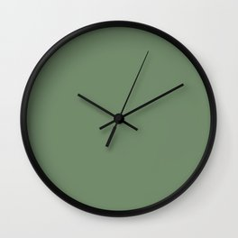 Simply Solid - Dark Sage Green Wall Clock