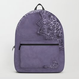 Vintage Lavender Watercolor Mandala Backpack