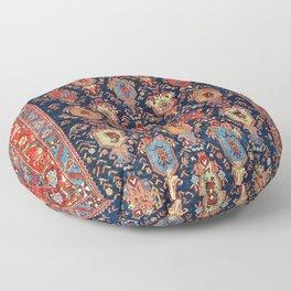 Bijar Kurdish Northwest Persian Rug Print Floor Pillow