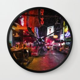 Cowboy Nights 2 Wall Clock