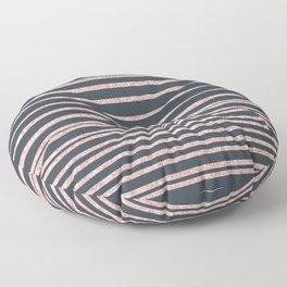 Elegant mauve gray pink glitter striped pattern Floor Pillow