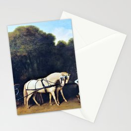 Phaeton With A Pair Of Cream Ponies And A Stable-lad - George Stubbs Stationery Cards