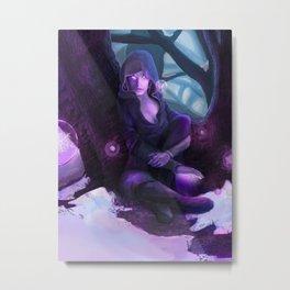 Fantasy Telekinetic Woman Metal Print