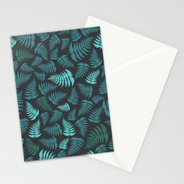 Fern Fronds in Sea Greens Stationery Cards