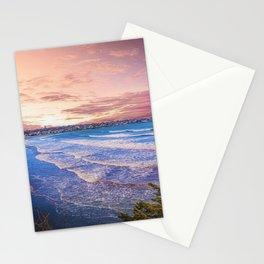 First Beach - Cliff Walk Newport, Rhode Island Sunset Landscape Stationery Cards