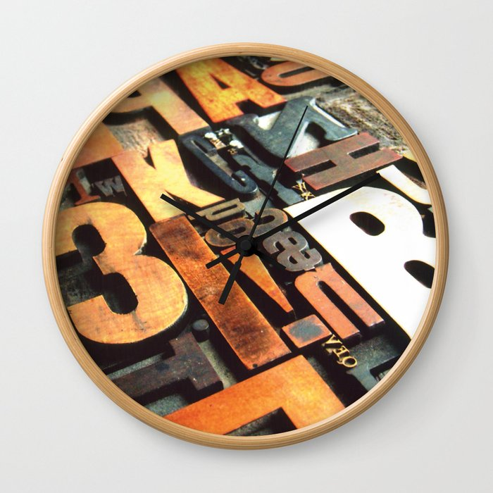 3B - Typography Photography™ Wall Clock
