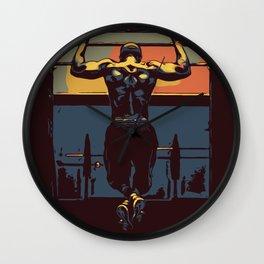 Pull ups at the gym - crossfit Wall Clock