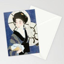 Geisha  - Vintage Japanese Art Print Stationery Cards
