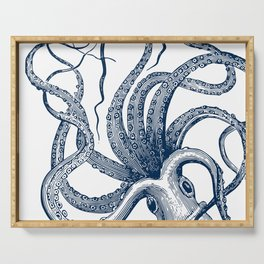 Octopus Navy Serving Tray