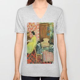 Henri Matisse Pianist and Checker Players Unisex V-Neck