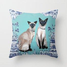 Siamese Cats Throw Pillow