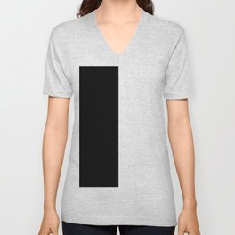 Black White Unisex V-Neck