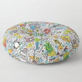 Comic Pop art Doodle Floor Pillow