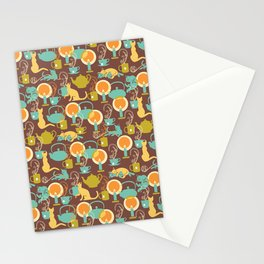 Cozy cat hygge Stationery Cards