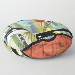 Mid Century Modern Fish Art Floor Pillow