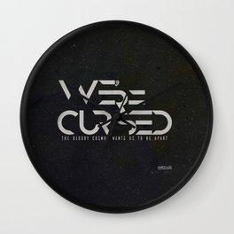 WE´RE CURSED v.2 Wall Clock