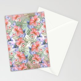 Hibiscus Aloha Stripe Stationery Cards