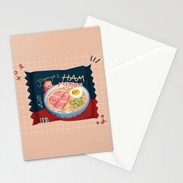 Ham & Egg Ramen Packet Stationery Cards