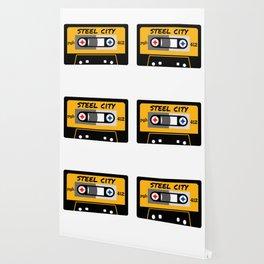 Pittsburgh Steel City 412 Vintage Music Cassette Tape Wallpaper
